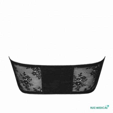 Bandeau Amber Top par Amoena - Coloris Noir - De Dos - Seul - Sans bretelles
