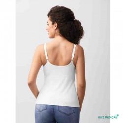Top Valletta Amoena pour prothèse mammaire - Coloris Blanc - Modèle de dos