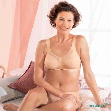 Soutien-gorge pour prothèse mammaire Clara par Anita Care - Coloris Désert - Face assise