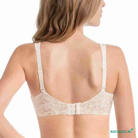 Soutien-gorge pour prothèse mammaire Ancona par Anita Care - Vue de dos - Coloris Beige