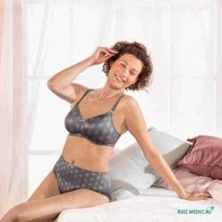 Soutien-gorge pour prothèse mammaire Mila par Anita Care - Coloris Gris Titane - Assis