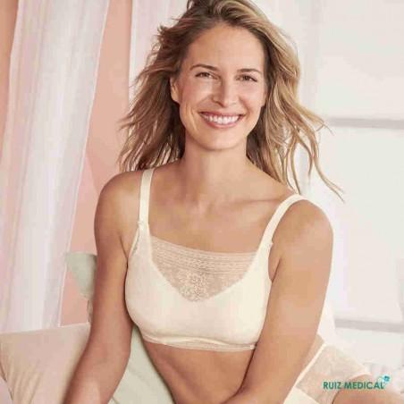 Bandeau à dentelle pour Soutien-gorge pour prothèse mammaire Fleur par Anita Care - Coloris Crystal