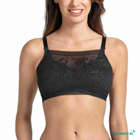 Bandeau à dentelle pour Soutien-gorge pour prothèse mammaire Fleur par Anita Care - Coloris Noir