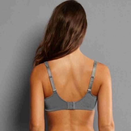 Soutien-gorge pour prothèse mammaire Mila par Anita Care - Coloris Gris Titane - Dos