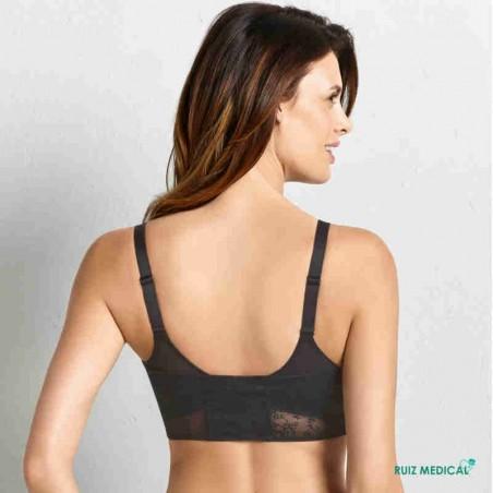 Bandeau à dentelle pour Soutien-gorge pour prothèse mammaire Fleur par Anita Care - Coloris Noir - Vue de dos