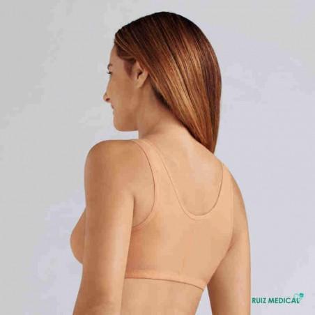 Soutien-gorge pour prothèse mammaire Frances sans armatures par Amoena - Coloris Peau - Vue de dos