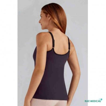 Top Valletta Amoena pour prothèse mammaire - Coloris Prune - Modèle de dos