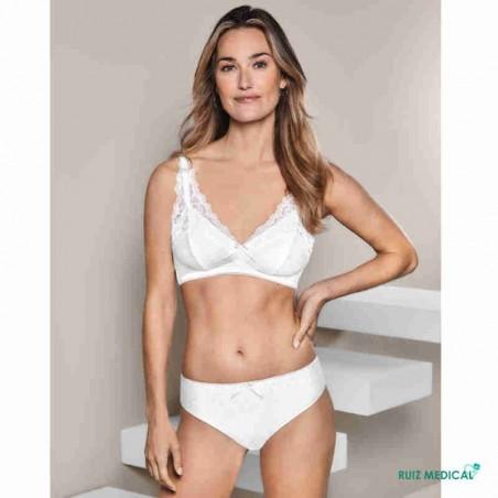 Soutien-gorge pour prothèse mammaire Amanda SB Bustier par Amoena - Coloris Blanc - Debout