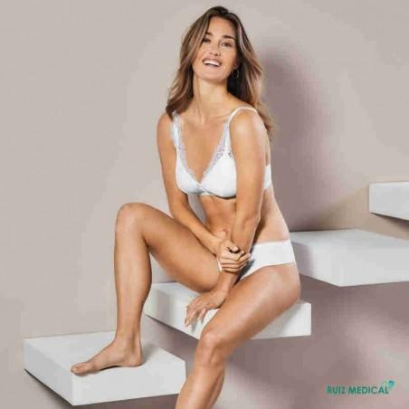 Soutien-gorge pour prothèse mammaire Amanda SB Bustier par Amoena - Coloris Blanc - Assis