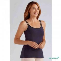 Top Valletta Amoena pour prothèse mammaire - Coloris Prune - Modèle de face