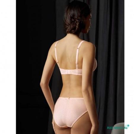 Soutien-gorge pour prothèse mammaire Karolina sans armatures par Amoena - Coloris Rose - Dos