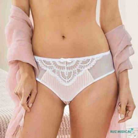 Culotte Karolina Panty par Amoena - Coloris Blanc/Nude - Face