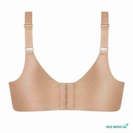 Soutien-gorge pour prothèse mammaire Magdalena sans armatures par Amoena - Coloris Peau - Dos Seul