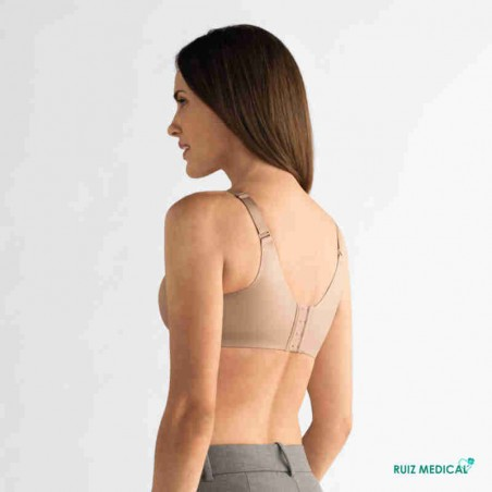 Soutien-gorge pour prothèse mammaire Magdalena sans armatures par Amoena - Coloris Peau - Dos
