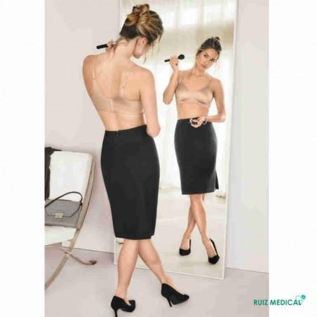 Soutien-gorge pour prothèse mammaire Magdalena sans armatures paddé par Amoena - Coloris Peau - Dos
