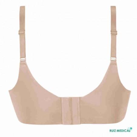 Soutien-gorge pour prothèse mammaire Magdalena sans armatures paddé par Amoena - Coloris Peau - Dos Seul
