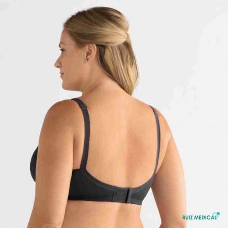 Soutien-gorge pour prothèse mammaire Mara sans armatures paddé par Amoena - Coloris Gris foncé - Dos