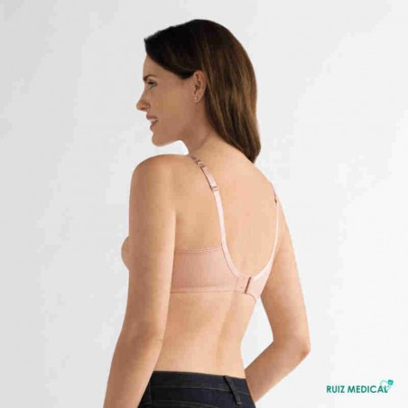 Soutien-gorge pour prothèse mammaire Ellen sans armatures par Amoena - Coloris Rose Nude - Dos