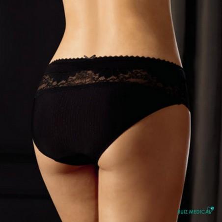 Culotte Aurelie Panty par Amoena - Coloris Noir - Dos