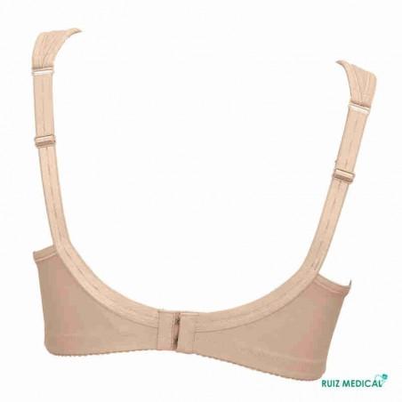 Soutien-gorge pour prothèse mammaire Safina 5349X par Anita Care - Coloris Chair - Dos seul