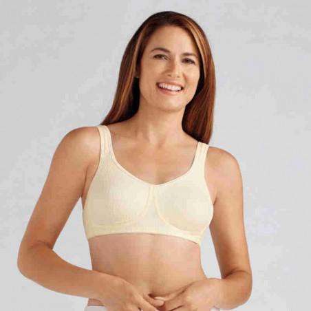 Soutien-gorge pour prothèse mammaire Mona sans armatures par Amoena - Coloris Champagne