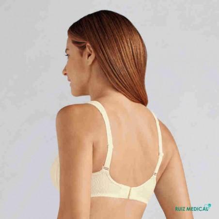 Soutien-gorge pour prothèse mammaire Mona sans armatures par Amoena - Coloris Champagne - Dos