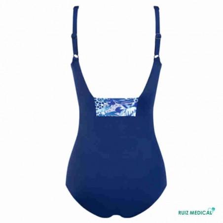 Maillot de bain pour prothèse mammaire Bahamas par Amoena - Seul -Vue de dos