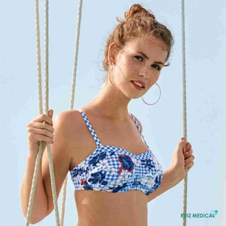 Maillot de bain pour prothèse mammaire Santa Marta Ive par Anita - Bretelles classiques