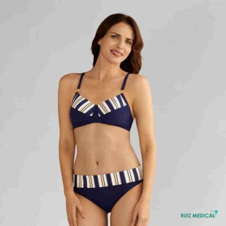 Maillot de bain pour prothèse mammaire Samos par Amoena - Vue de face