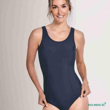 Maillot de bain pour prothèse mammaire Rhodes par Amoena - Vue de face - Coloris Bleu Nuit